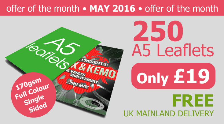 Cheap A5 Leaflets
