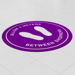 coronavirus floor sticker