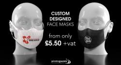 Custom Design Fabric Face Masks
